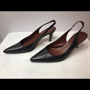 Banana Republic - Black Leather Slingback Heels